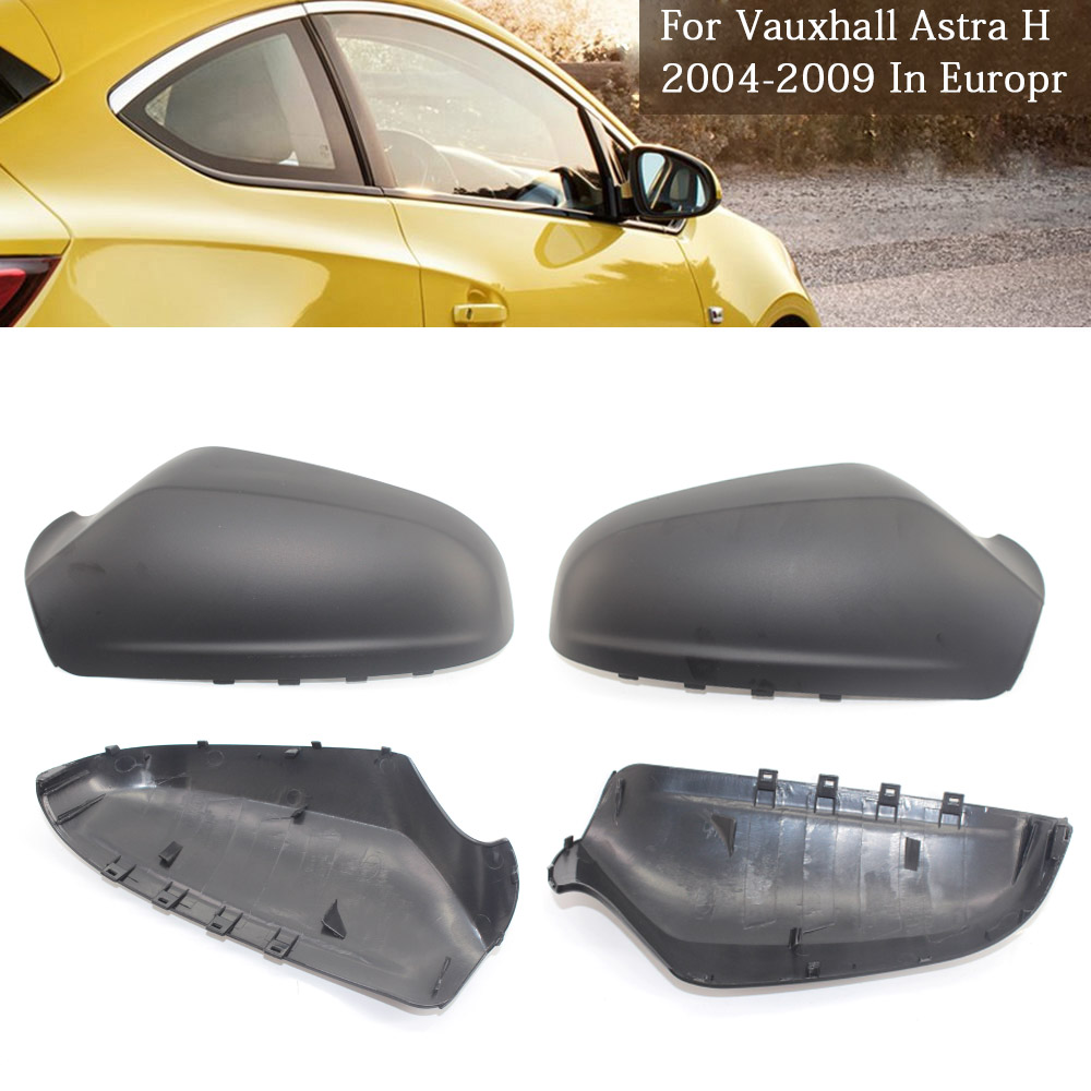Pair Left /& Right Side Wing Door Mirror Cover For VAUXHALL ASTRA H MK5 2004-2009
